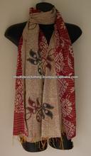 Lotes al por mayor de kantha vintage sari de seda bufandas, estolas, chales, duppata's a precios rebajados