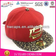 Leopard falt brim leopard buckle 3d gold letters bolted snapback cap hat