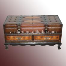 FD-VS1473 Antique storage trunk with drawers home storage organizer