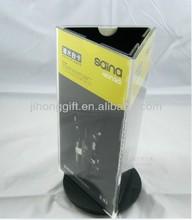 acrylic triangle revolving menu holder/ three size acrylic rotate table stand menu holder/ clear acrylic menu holder