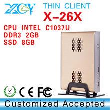 High Config CPU and Graphics Card XCY X-26X micro atx case, computer case, pc case INTEL C1037U Celeron Dual-core 1.8GHz CPU