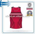 Subbs- 296การออกแบบเสื้อบาสเกตบอลกีฬาสีแดง