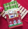 caliente venta nuevo libre de la muestra divertido diy escarcha tarjetas de navidad hecho a mano