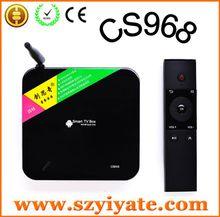 lcd tv tuner box CS968 5MP camera Quad core tv box with control remoter