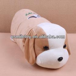 cute bolster stuffed dog