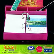 factory supplier acrylic solar calendar display stand rack