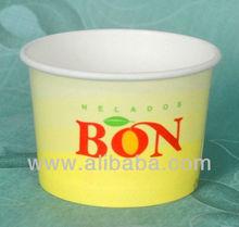 Ice cream cups with Custom Logo PE coated foodgrade