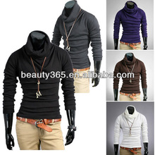 New Korea Men's Casual Slim Fitting Dress Shirts T-shirt Tee Tops 6 Colors 4 Size