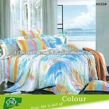 Colorful printing duvet cover bed sheet set