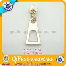 light gold metal slider for garment Z-023