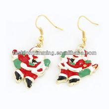 alloy rims earring santa claus drop earring cartoon characters earring