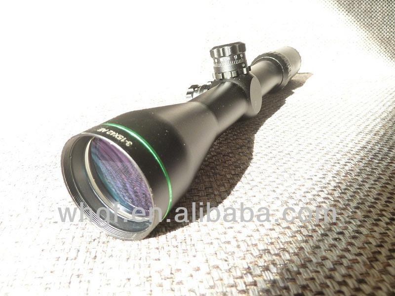GF0025 High quality 3-15x42 hunting riflescope with LOCKING TURRETS