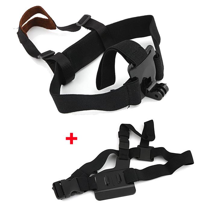 F06730-B Light Weight 3 Points Chest Belt Shoulder Strap W/ Storage Bag + Quick-Release Buckle Mount Screw for G H 3 2