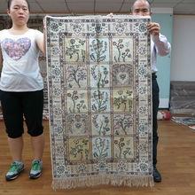 2.5'x4' Handmade Genuine Persian Tabriz Silk Shaggy Rugs