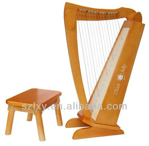 Harps música bebê de madeira mini toy instrumento musical harpa