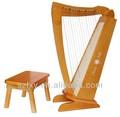 Harpas música baby brinquedo de madeira mini instrumento musical de harpa, pedal harpas para venda