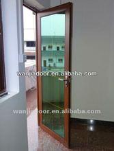 aluminium flush doors/double door parts/aluminum frame glass door parts