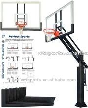 Fully-tempered Glass Steel-framed Basketball Backboard