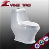 Black color one-piece ceramic standard toilet