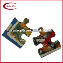 OEM Promotional Puzzle Fridge Magnet with logo printed