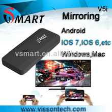 IOS mirroring miracast dongle for christmas gift purchase cast VOD content to TV screen