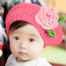 Cute Children Manual Knitting Beret Hat