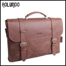 Top quality briefcase expensive fashion design portfolio cases crazy horse portfolio