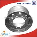 China sin cámara de aire de la rueda manufactuer 6.75*22.5 llanta de la rueda