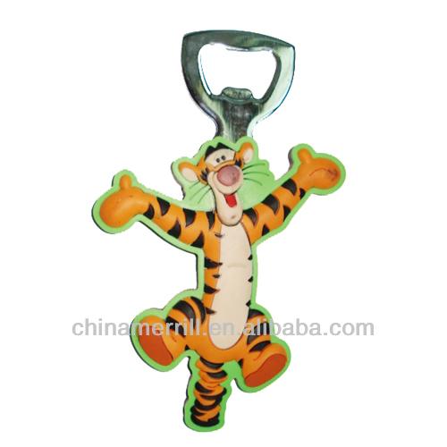 lovely design soft PVC key chain, promotion key chain, bottle opener key chain