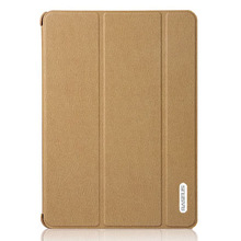 BASEUS for iPad 5 leather cover, ultra thin leather case for ipad air