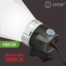 3000 lumens led bike light INTON bicycle led light bar CE RoHS