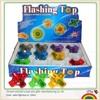 Kids plastic flashing spinning top toy