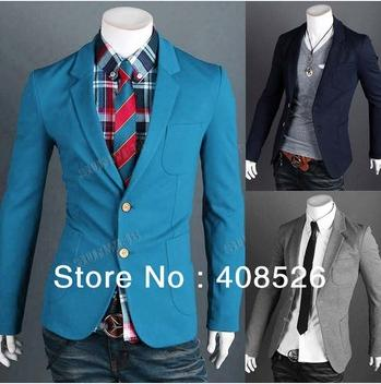2013 New Fashion Men Blazers,Top Mens Suits,Casual Jackets,Men's Coat,3 Colors M-XXL 17765