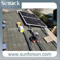 ピッチ屋根板の屋根が取り付けられた太陽光発電システム