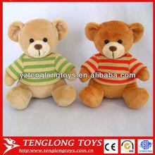 Plush animal stuffed cute teddy bear wearing T-shirt