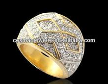 Mens Stainless Steel Rings CZ Stones Ring