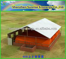 pig farm house bio gas power plant