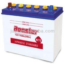 Top 12V JIS Standard Dry Car Battery 65D31R 70Ah Professionally Manufacturing