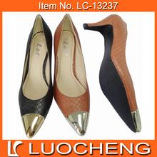 High Heel Lady Dress Shoe Plastic Toe