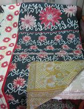 Vintage Kantha Quilt Throw Wholesale Lot of Reversible Indian Handmade Bedspread Bedding Blanket Ralli Ethnic Suzani Saree Bohem