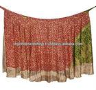 Silk Wrap Skirt Sz M Boho India Sari Sarong Magic Gypsy BOHO Hippie