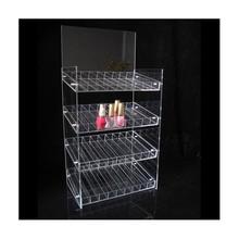 Clear plexiglass acrylic cosmetic display pieces