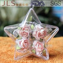 plastic outdoor christmas decorative plastic stars 100MM