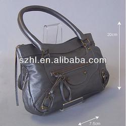 Clear acrylic handbag stand display