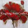 Inicio decoracion hecha a mano de la flor de pintura al oleo
