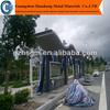 prefab durable bus stop shelter with light box/public waiting shed for outdoor advertising