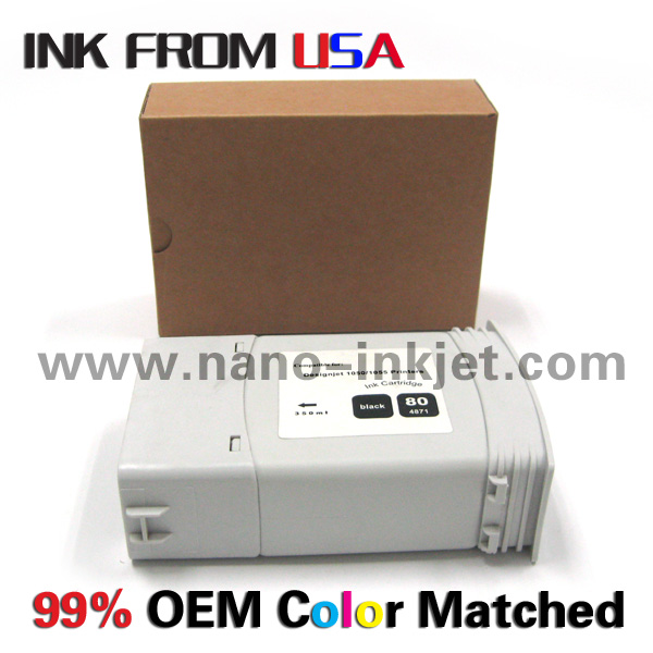 Pigment Ink Cartridge C4871A C846A-C4848A for HP Designjet 1000S/1050/1055 Wholesale Nano Inkjet China
