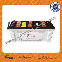 used car batteries for sale N12012V 120AH dry recharged car batteries for trunk, car, bus with reasonable price