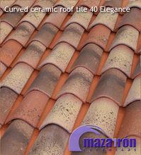 Curved Ceramic Roof Tile 40 Elegance