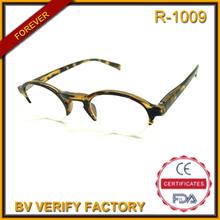 R-1009 plastic vintage half eye round reading glasses men meet CE, FDA